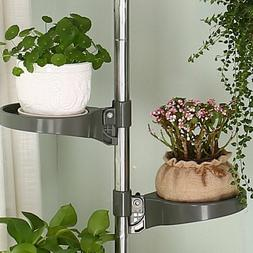 1/5/10 Pcs Tension Pole Plant Stands Pot Tray Accessories wi