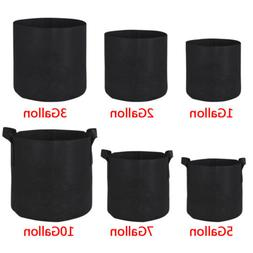 10 20 Pack Fabric Grow Pots Aeration Plant Planter Bags Root