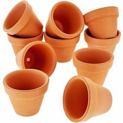 Juvale 10-Count Mini Terra Cotta Flower Pots - Ceramic Potte