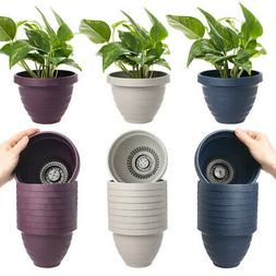 "10pk Self Watering 6"" Planters Indoor Or Outdoor Flower Po"