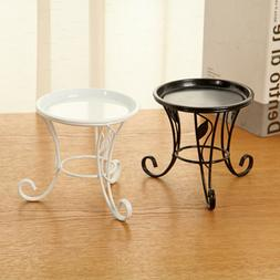 1pc Mini Iron Flower Plants Metal Pot Stand for Indoor Outdo
