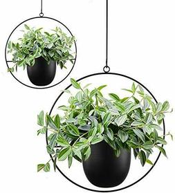 ABETREE 2 Pcs Boho Metal Hanging Planters for Indoor Plants