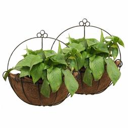 2 Pcs Metal Wall Hanging Planter Basket Great for Indoor or