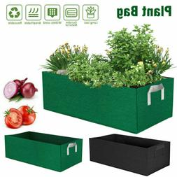 24x12x8in Planting Grow Bag Fabric Raised Flower Bed Garden
