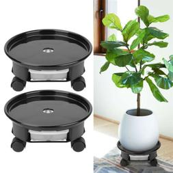 2X Plant Saucer Caddy Pot, Plant Dolly with Wheel Roller Mov