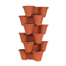 3 or 6 Tier Stackable Vertical Plastic Planter Mini Garden H