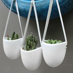 Cesun Hanging Wall Planter Pots Indoor with FREE hooks, Pack