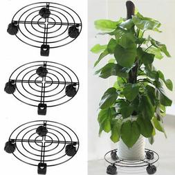 3x Large Heavy Duty Plant Pot Stand Rack Iron Flower Holder