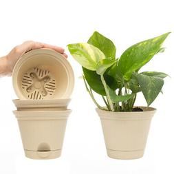 """4pk Misco 5.2"""" Plant Spa Flared Self Watering Planters Ind"""
