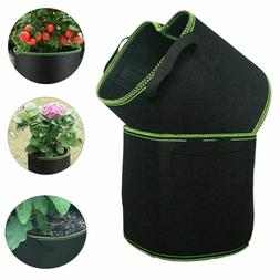 5-Pack Black/Green Grow Bags Aeration Fabric Planter Root Gr