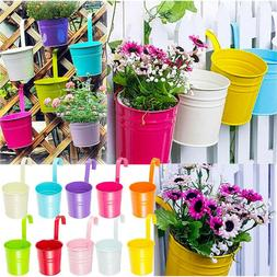 5pc Flower Pot Garden Hanging Balcony Plant Home Decor Metal