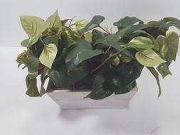 Nearly Natural 6713 Pothos with White Wash Planter Decorativ