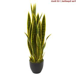 """Nearly Natural 8303 33"""" Sansevieria Artificial Silk Plants"""