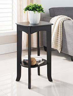 Kings Brand Espresso Finish Wood Plant Stand Accent Side End