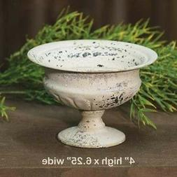 Chippy Metal Urn Planter CREAM - Shabby Chic / French Countr