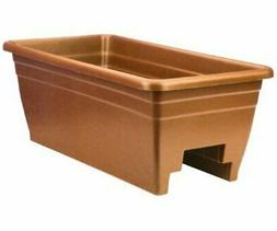 Myers Industries L & Ggroup DP724CL Deck Rail Planter Clay
