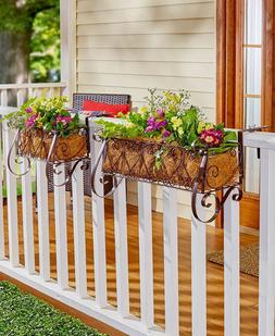 Decorative Railing Planters or Coco Liners Balcony Rail Flow