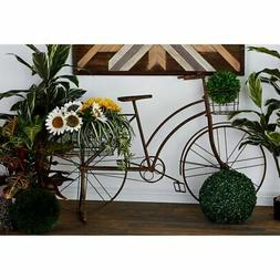 Farmhouse 39 x 63 Inch Brown Standing Bicycle Planter by Bro