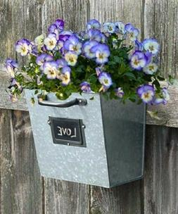 FILE DRAWER GALVANIZED WALL PLANTERS, 4 PACK by PANACEA