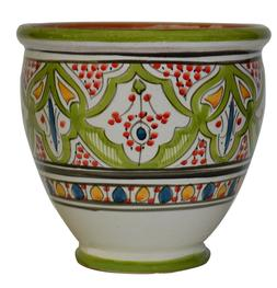 Flower Pot Moroccan Spanish Garden Drain Hole Ceramic Terrac