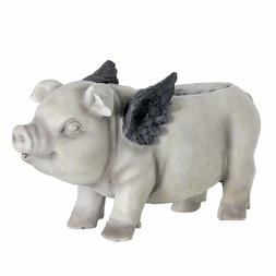 Exhart Flying Pig Planter