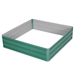 Outsunny Galvanized Raised Garden Bed Kit, Outdoor Metal Pla