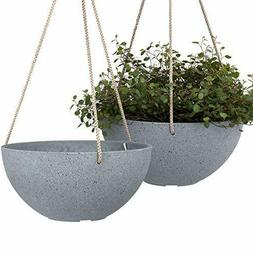 Hanging Planters for Indoor Plants - 10 Inch Flower Pots Out