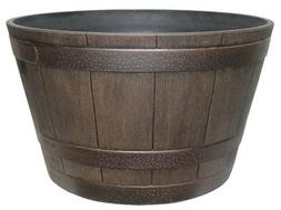 Southern Patio HDR-001225 High Density Resin Whiskey Barrel