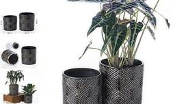 """KYY Ceramic Planters Garden Flower Pots 5.5"""" and 4.5"""" Set of"""