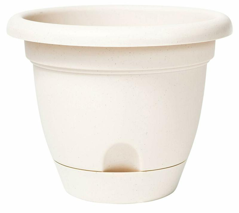 "Pack of 1 Bloem 010158 Lucca Self Watering Planter, 10"", Tau"