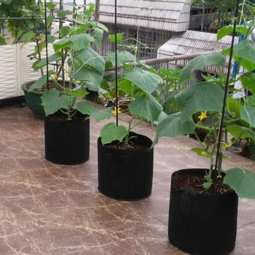 10 Pack Fabric Grow Planter Bags Root Container