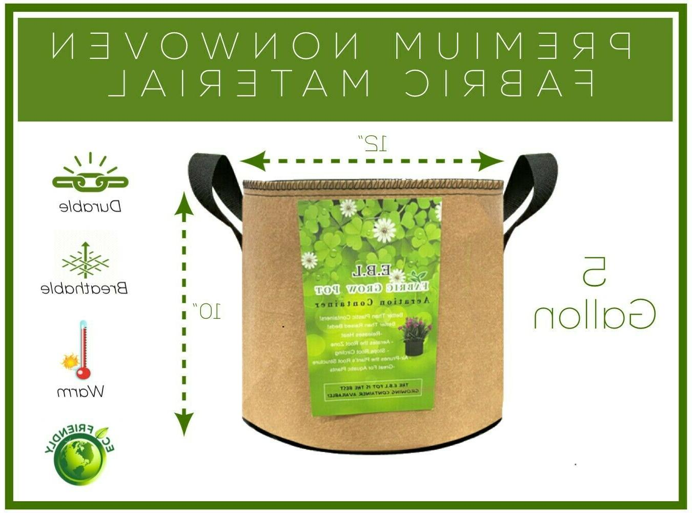 8 Pk-5 Bags Plant Pots Containers