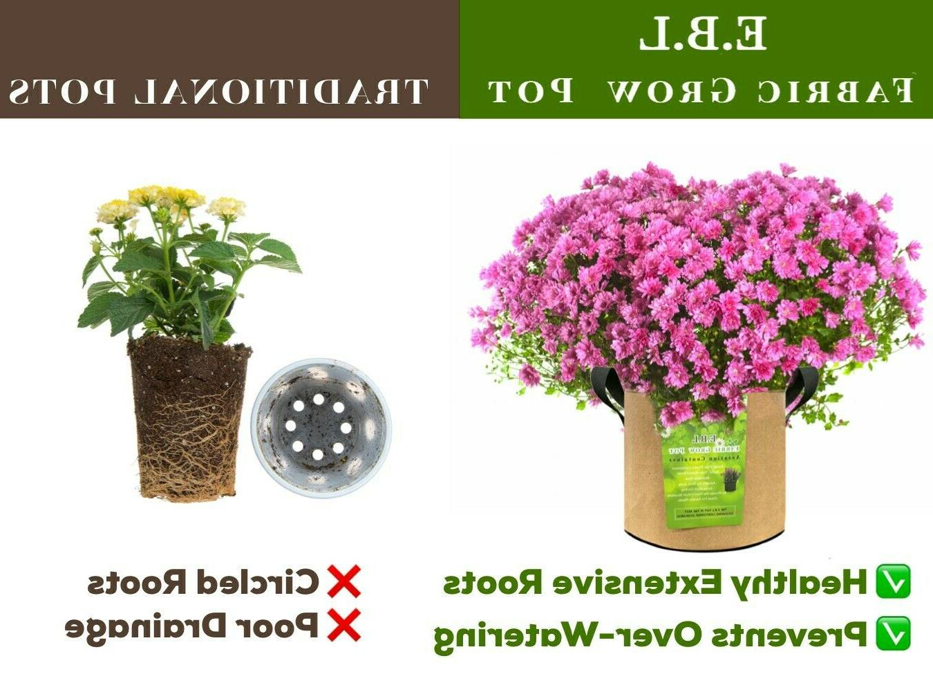 8 Grow Bags Garden planters Plant Fabric Containers
