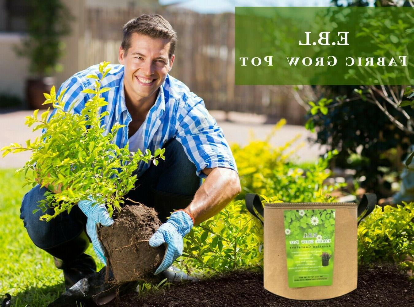 8 Bags Garden planters Aeration Plant Fabric