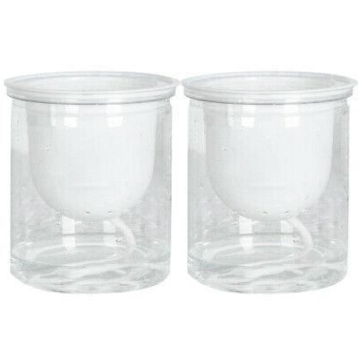 2pcs Outdoor Flowers Clear