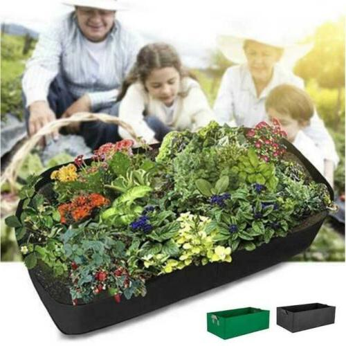 Fabric Raised Grow Bags Flower Planter Pocket Pouch c
