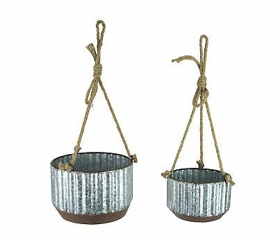 farmhouse style corrugated galvanized metal and rope