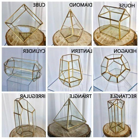 Glass Geometric Table Decor/ Planter/Air Plants