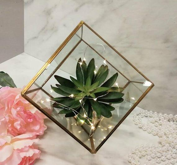 Glass Terrarium/ Table Decor/ Succulent Planter/Air Plants