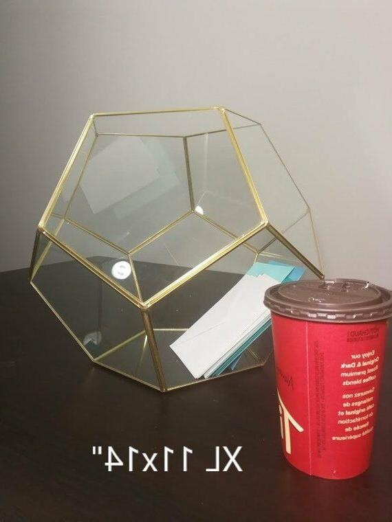 Glass Geometric Terrarium/ Wedding Table Decor/ Plants