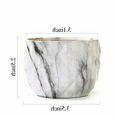 Marbling Ceramic Succulent Planter Pots with Hole For of