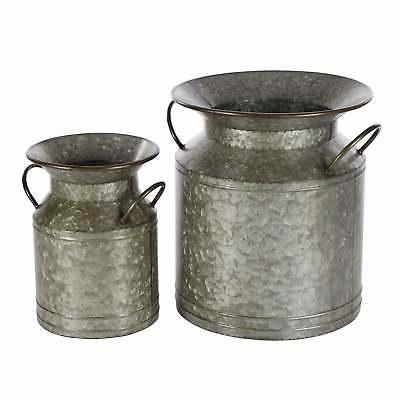 Studio 350 Metal Planter Set of 2, 12 inches, 15 inches high