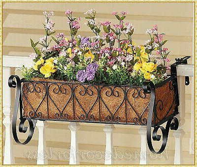 Metal or COCO Balcony Flower Box Fence ~