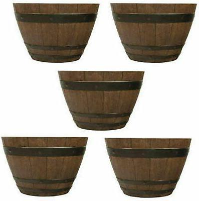 new 13 woodford barrel planter 5 pack