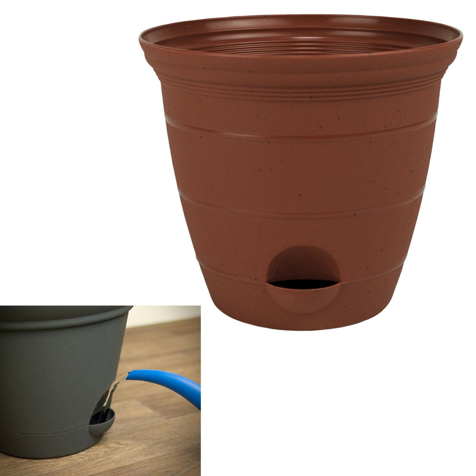 plastic self watering flower potted planter pot