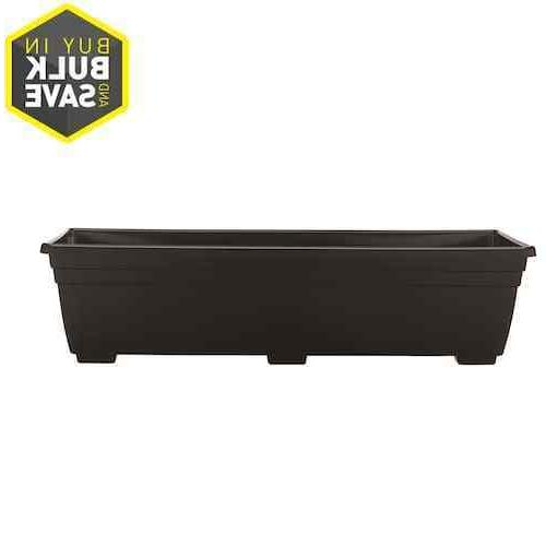 "Plastic Window Planter Box 36""W x 6.6""H Black Nice Accent De"