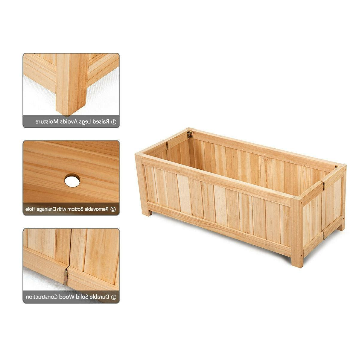 Portable Wood Patio Lawn Folding Rectangle Bed Removable