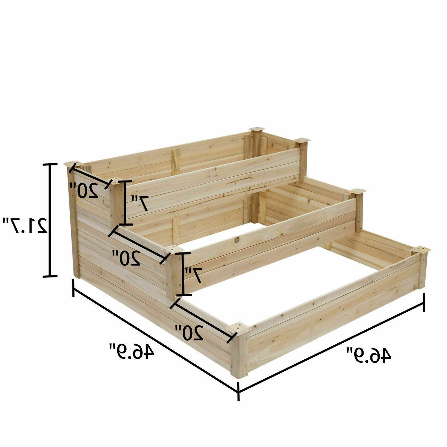 Raised Garden Bed Patio for Flowers Herbs