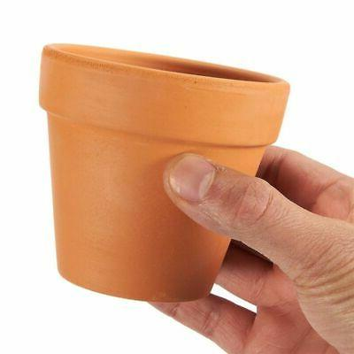 Terra 9-Pack Mini Clay Planters for Outdoor Plant