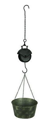 Vintage Metal Pail and Pulley Indoor/Outdoor Hanging Planter
